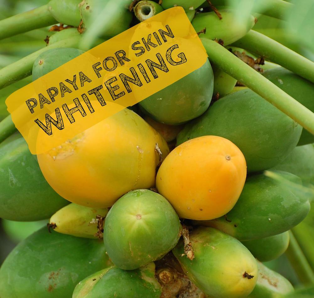 papaya para blanquear la piel